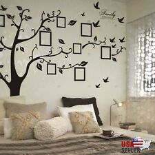 Family Tree Wall Decal Sticker Large Vinyl Photo Picture Frame Removable  Black Part 36