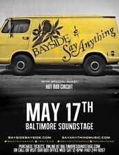 BAYSIDE/SAY ANYTHING 2017 BALTIMORE CONCERT TOUR POSTER-Punk/Alt/Indie Rock, Emo