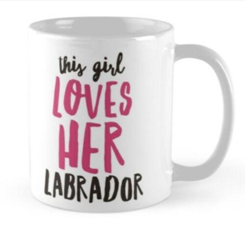 Labrador gift idea mug cup present Black chocolate yellow lover