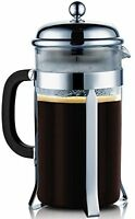 Sterlingpro French Coffee Press 8 Cup 1 Liter, 34 Oz, Chrome