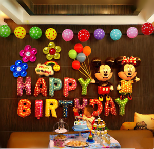 13pcs Happy Birthday Letters Foil Balloons Diy For Birthday Party