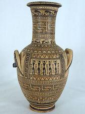 Vintage Geometric Attic Vase, 9th Century BC Greece, Hand Made Replica Pottery