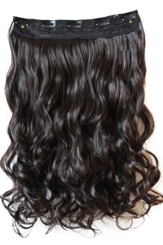 5 Clips Clip in Extensions Halbperücke Haarverlängerung Haarteil gewellt 55cm