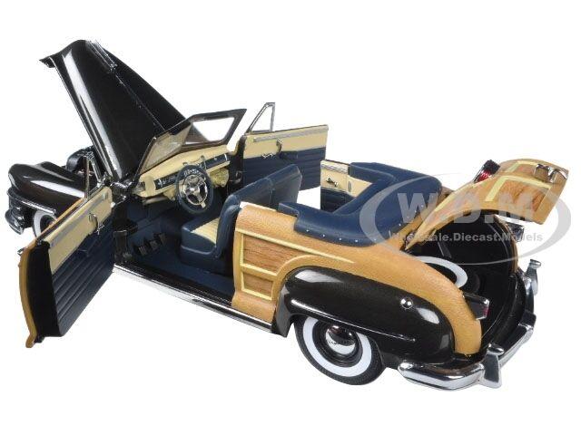 1948 Chrysler Town and Country Gunmetal gris 1 18 Diecast Diecast Diecast Modelo por SUNSTAR 6141 50499e
