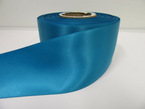 3mm 7mm 10mm 15mm 25mm 38mm 50mm DARK TURQUOISE BLUE Satin Ribbon double sided