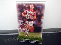 Signed Trent Merrin Photo & Frame Coa St Geroge Illawarra Dragons 2017 Jersey