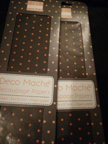 6 Feuilles de Découpage//DECO plumier Papier Tissu Orange Polka Dot