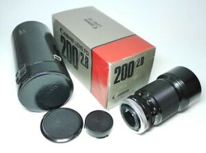 Canon-FD-2-8-200mm-S-S-C-Objektiv-mit-OVP-Top-Zustand