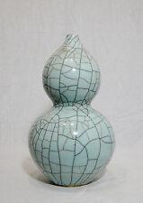 Chinese  Monochrome  Crackle  Porcelain  Gourd  Vase     M511