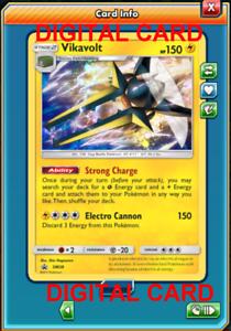 Pokemon Card TCG Vikavolt SM28 Online Card PTCGO Digital Card