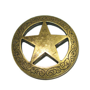 """Smooth Star Screw Back Concho Antique Brass 3//4/"""" 7536-21 by Stecksstore"""