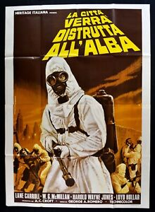 Poster Die Stadt Wird Zerstört All'Alba George Romero Zombie Holl Crazie M313