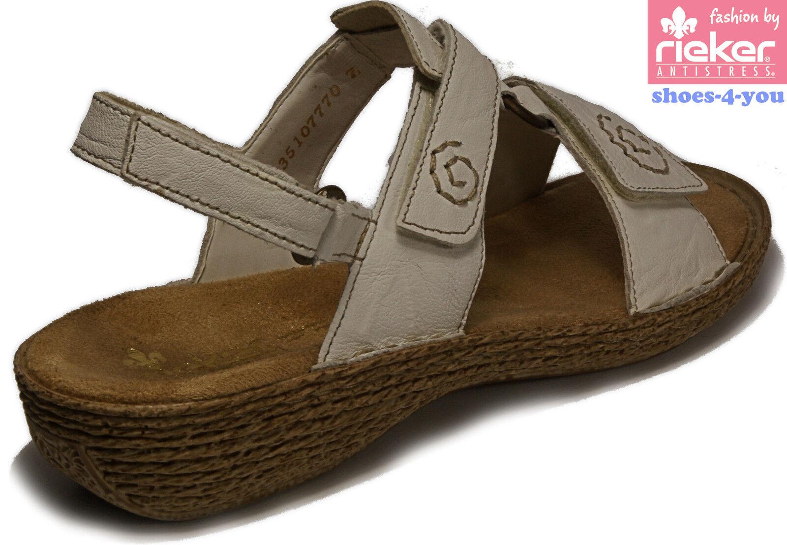 RIEKER Schuhe Sandalen Sandaletten weiß Keilsohle Keilsohle Keilsohle Plateau echt Leder NEU ed2219
