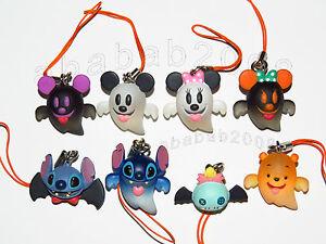 Yujin Disney stitch Mickey Pooh Halloween strap Pt.1 Figure gashapon set (8 pcs)