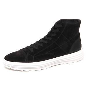 Details about E4990 sneaker uomo nero HOGAN H341 HELIX HI TOP scarpe suede shoe man