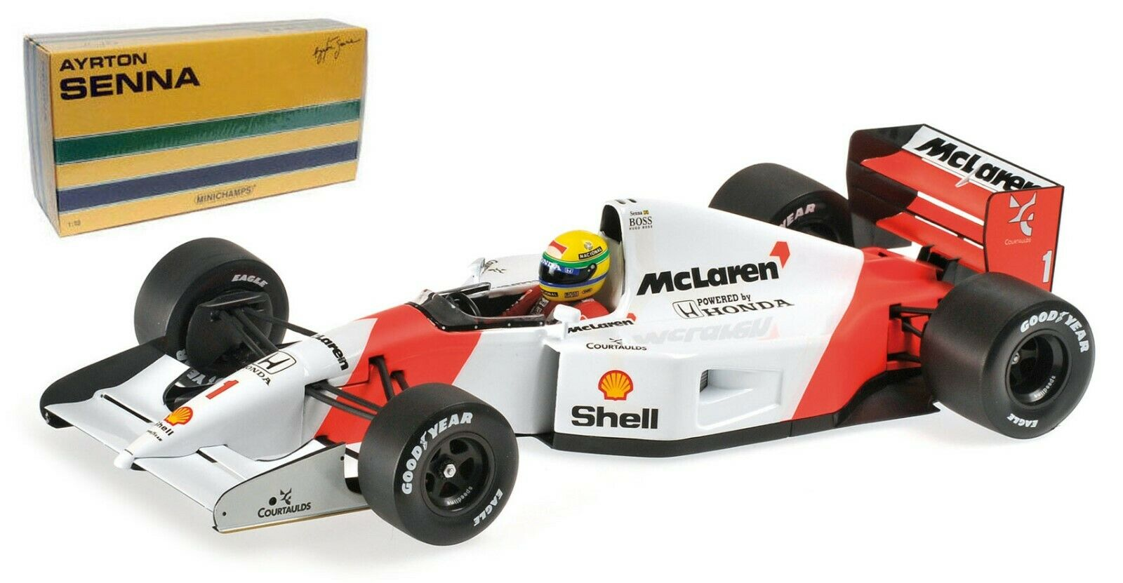 Minichamps McLaren Honda MP4 7 Ayrton Senna 1 18 Escala
