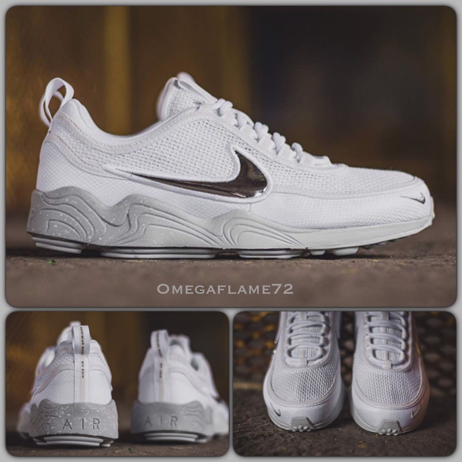 NikeLab Zoom UK Spiridon White Silver, 849776-100, UK Zoom 7.5, EU 42, US 8.5 nike 968084