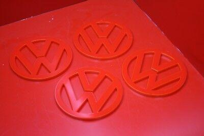 RED VW SYMBOL COASTER