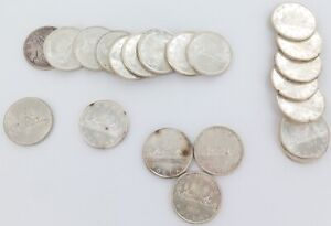21-x-CANADIAN-80-SILVER-DOLLARS-1-1961-1966-489g-INVEST-IN-SILVER