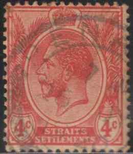 MALAYSIA-MALAYA-STRAITS-SETTLEMENTS-1912-3c-CARMINE-USED
