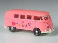 kleine rosa Rarität: Brekina Japan Sondermodell VW T1 Bus Just Married