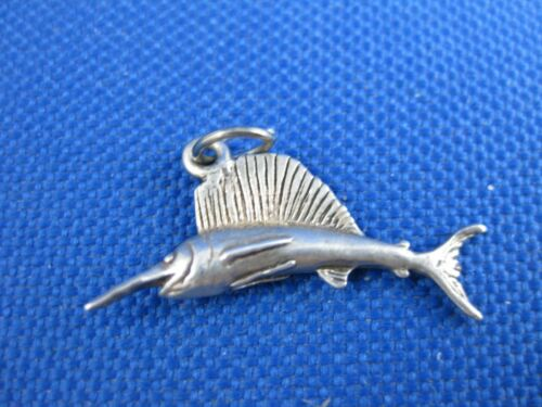 VINTAGE STERLING SILVER SWORD FISH CHARM