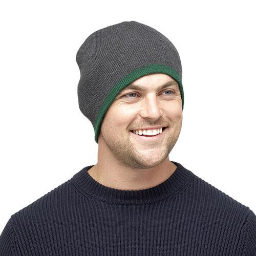 Octave ® Da Uomo Reversibile Cappello Beanie vari colori scaldarsi in inverno