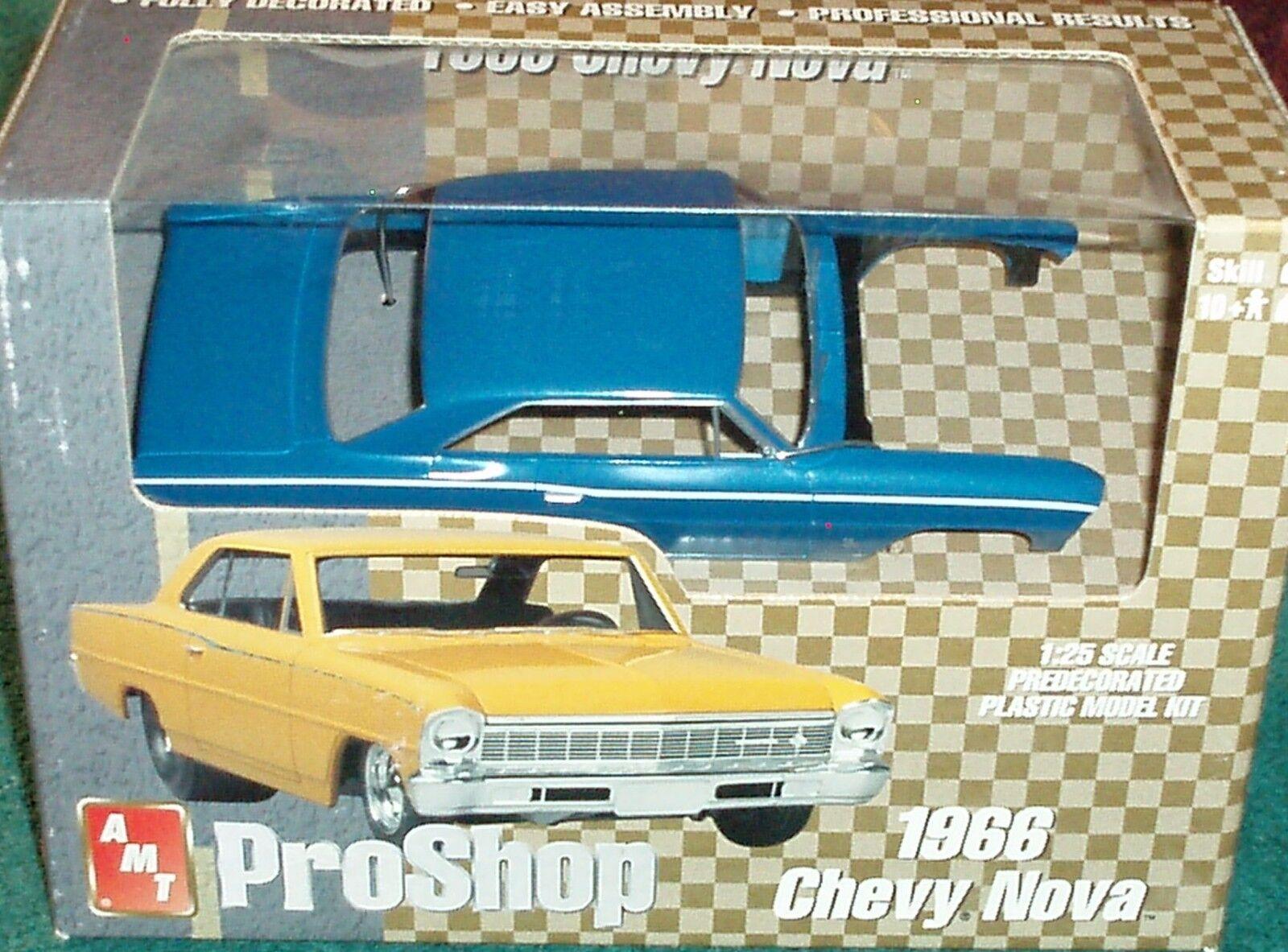 Aluminium Modèle Jouets Pro Shop 1966 Chevy Nova 1 25 prépeint PLASTIC MODEL KIT
