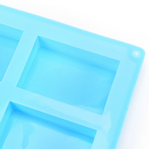 6-Cavity Silicone Rectangle Soap Cake ice Mold Mould Tray For Homemade Craft Vf