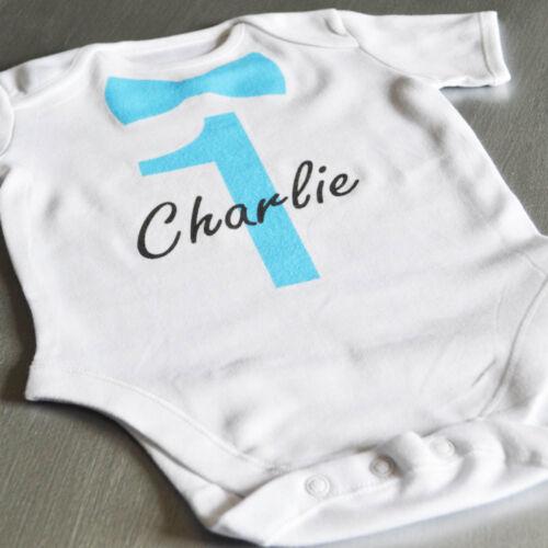 Nombre Personalizado Dickie Arco bebé crezcaCumpleañosPersonalizado Bebé Mameluco