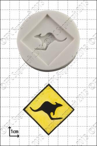 Silicone mould Kangaroo SignFood Use FPC Sugarcraft FREE UK shipping!