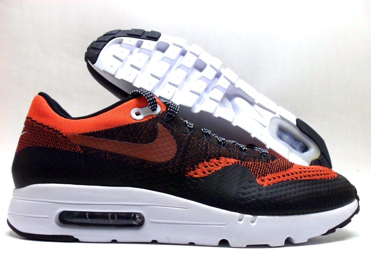 nike air id max 1 ultra flyknit id air orange / black-white größe männer 10,5 bae512