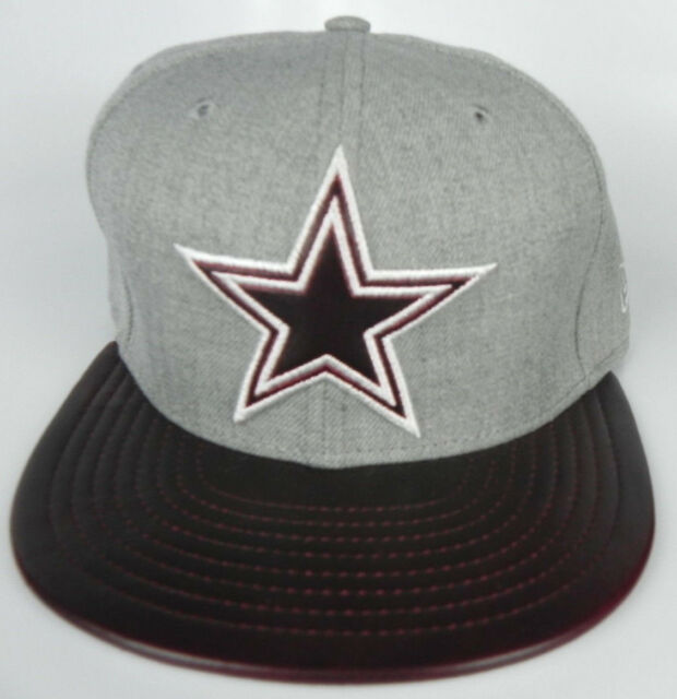 DALLAS COWBOYS NFL BROWN LEATHER NEW ERA 59FIFTY FITTED SIZE 7 1 2 CAP HAT f3d8f6882049