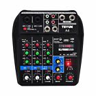 USB 4 Channel Audio Mixer Console Sound Card Bluetooth 48v Power Multi Purpose