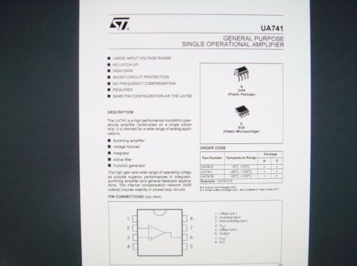uA 741 = LM741 = CA741 Operationsverstärker Op-Amp analog IC SCHALTKREIS #CF62