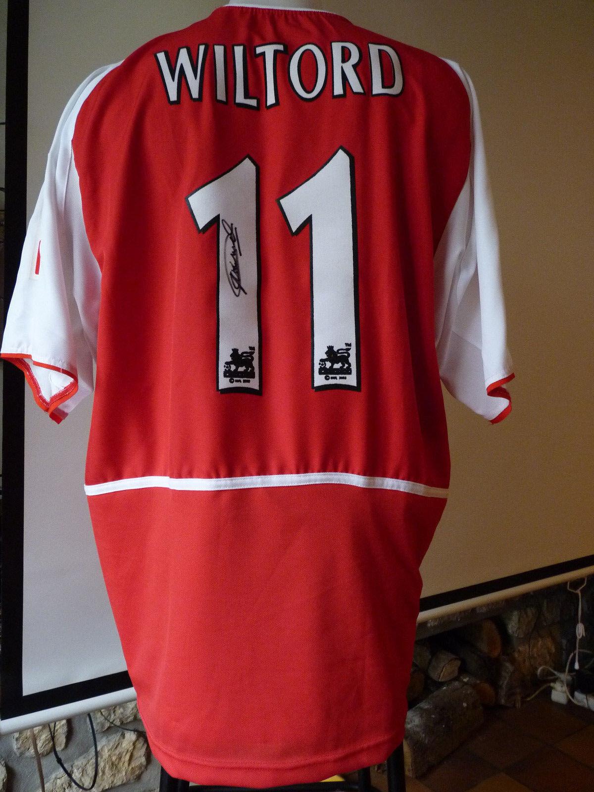 Maillot Arsenal Wiltord 20022003 0203 shirt jersey Bordeaux Lyon Rennes France