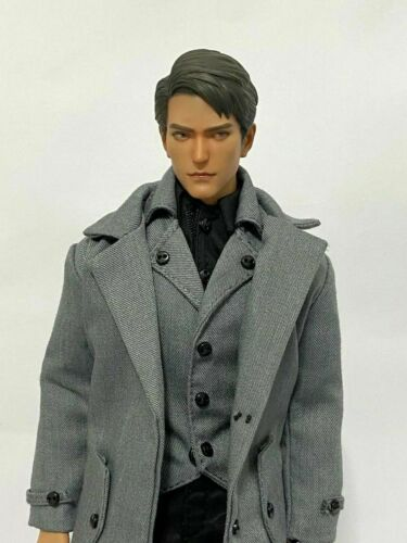 1//6 Grey Coat Suit Windbreaker Clothing Suit Set Fit 12/'/' Male Action Figure Toy