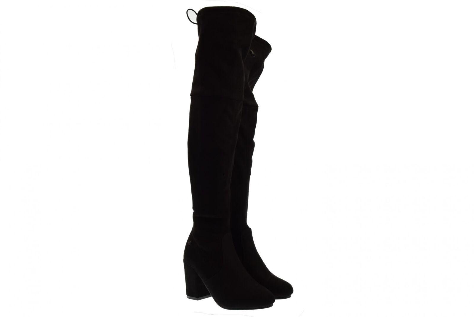Xti scarpe donna stivali sopra sopra sopra il ginocchio 48565 nero A18 52235f