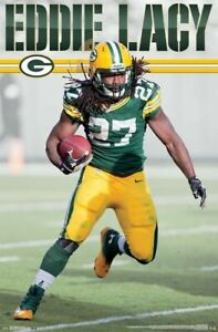 EDDIE-LACY-RUN-22x34-POSTER-Green-Bay-Packers-Football-NFL-Running-Back