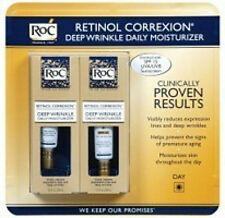 2 ROC Retinol Correxion DEEP WRINKLE DAY Cream LARGER SIZE 1.1 oz each