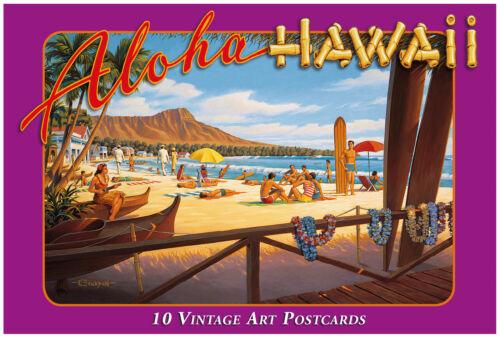 10 Historic Aloha Hawaii by Kerne Erickson Hawaii Vintage Boxed Postcard Set