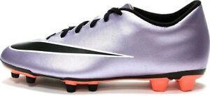 NEW Nike Mercurial Vortex II FG Mens Purple Black Soccer Cleats 651647-580 SZ 6