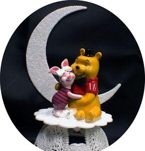 PIGLET Bride Winnie the Pooh Groom Wedding Cake Topper \