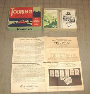 1947 TOURING Improved Edition Automobile Card Game w/Original Box w/Instructions