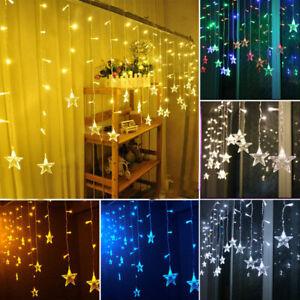 96 LED Star Shaped String Lights Fairy Light Wedding Christmas Curtain Decor