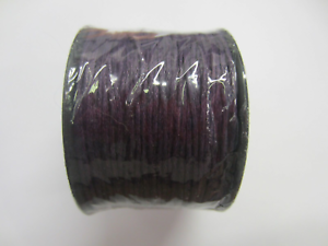 Purple 1mm Waxed Linen Thread Cord String Jewelry Making 70 Yards US SELLER
