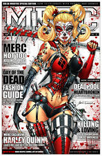 Harley Quinn Day of the Dead Art Print by Jamie Tyndall. 11x17