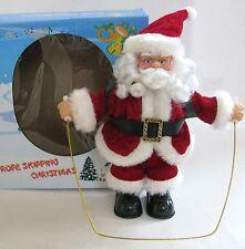 NEW JUMP ROPE SKIPPING SANTA CLAUS MUSICAL CHRISTMAS FIGURINE+BOX
