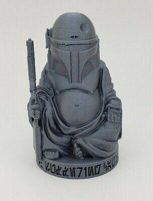 "3D Printed 4/"" Star Wars Inspired Storm Trooper Buddha Statue White PLA Plastic"