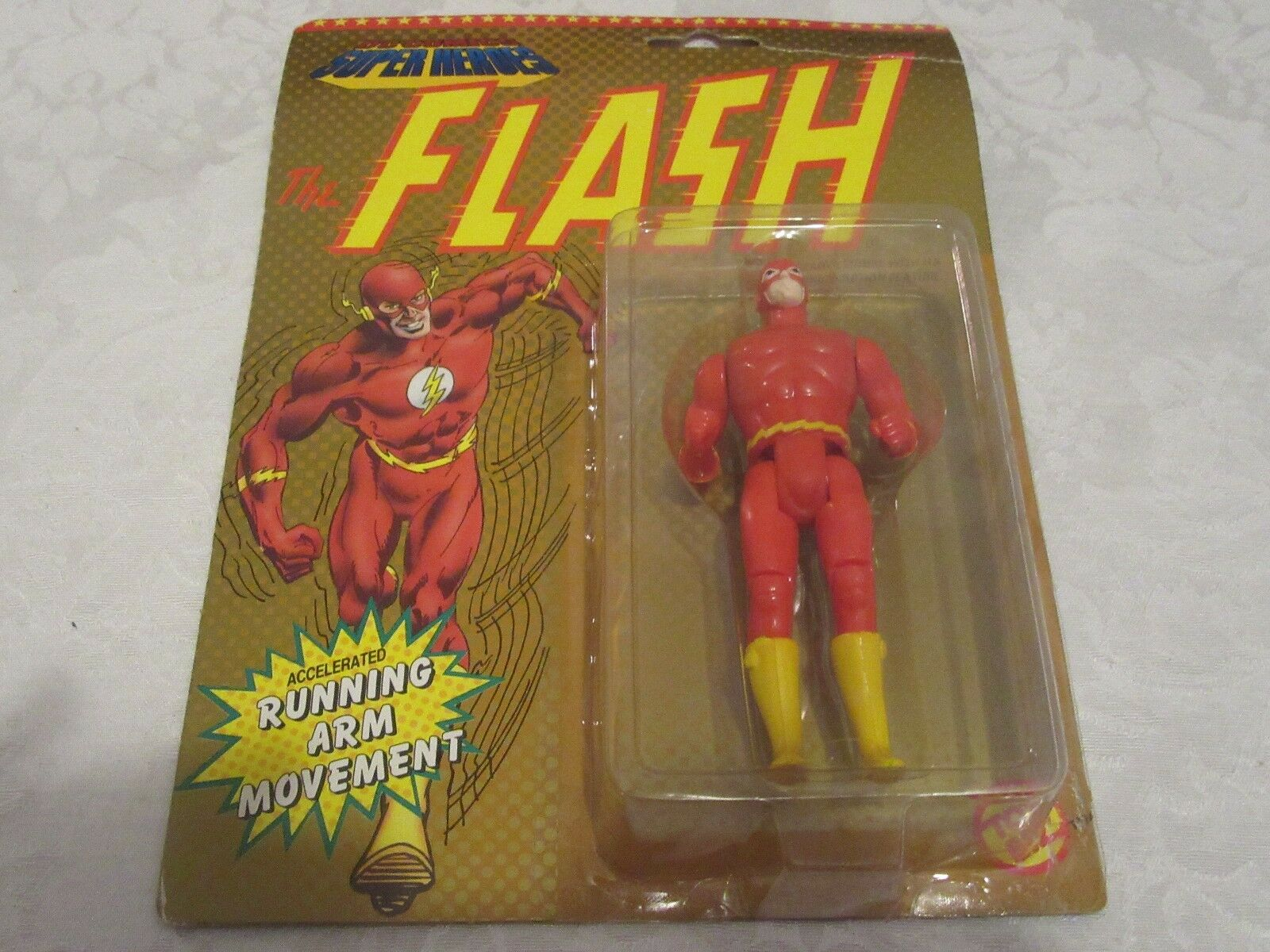 DC Comics Super Heroes The Flash Running Arm Movement No Symbol Logo Error
